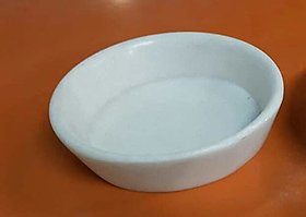 Salvus App SOLUTIONS Handmade White Marble Plate for Durga Pooja 5 inch