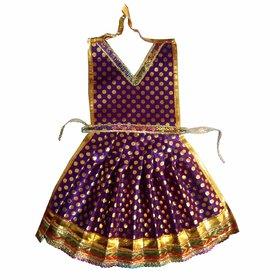 Beautifully Handmade New Violet Golden dot Color Davi Vastra- 15 Inches, Durga ji Vastra, Dress for Idol, Devi Durga MAT