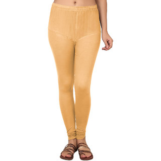 05e83fea088123 70%off A4S Womens Ultra Soft Cotton Churidar Ruby Style Legging (L002 Beige  S)