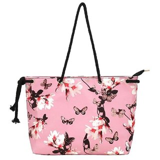 Pink Floral Printed Shoulder Bag