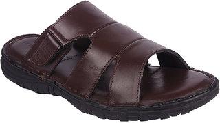 BB LAA Brown Men's Leather Slipper