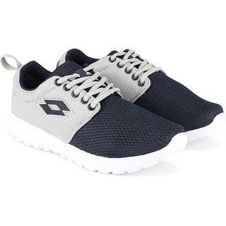 Lotto Carmela Mens Grey and Navy Mesh Running Shoes- (AL5001-242)