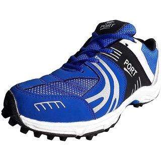Port Unisex Adult Blue Cricket Shoes