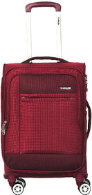 Timus Estonia 55 CM 8 Wheels Strolley Suitcase For Travel Cabin Luggage Trolley Bag (Red)