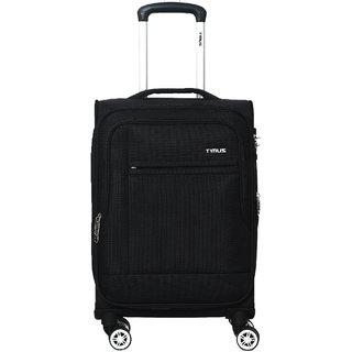 Timus Estonia 55 CM 8 Wheels Strolley Suitcase For Travel Cabin Luggage Trolley Bag (Black)