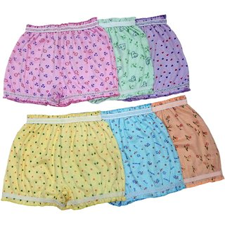 Bexzzor Girls Boys and Kids Pure Cotton Printed  Briefs Inner Underwear Panty Bloomers Combo Pack of 6