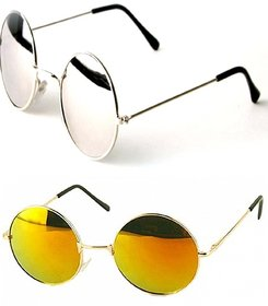 Combo Of 2 Round Mirrored Sunglasses