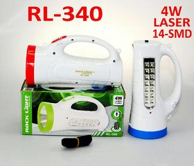 Rock Light RL-340 4-Watt Rechargeable LED Torch (Color May Vary)
