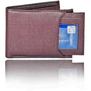 Moody Max-Men's Slider Brown Artificial Leather Wallet (7 Card Slots) (Synthetic leather/Rexine)