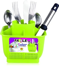 Homeeware Five Star Cutlery Plastic Stand, Assorted Color