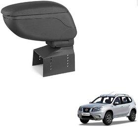 Auto Addict Car Armrest Console Black Color For Nissan Terrano