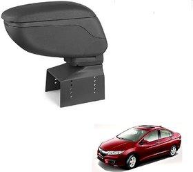 Auto Addict Car Armrest Console Black Color For Honda Idtec City