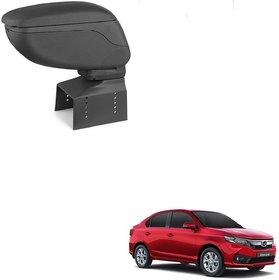 Auto Addict Car Armrest Console Black Color For honda Amaze New 2018