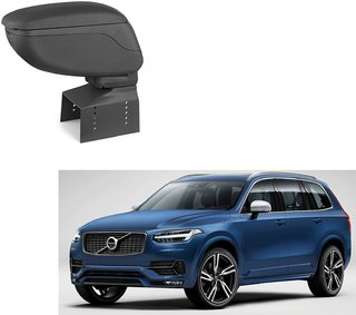 Auto Addict Car Armrest Console Black Color For Volvo XC90
