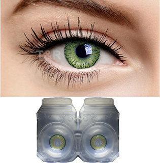 Imax Monthly Green Color Contact Lens Zero Power Monthly Disposable 2 Lenses Pack