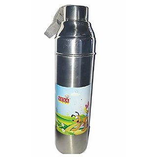 Stainless Steel Vacuum  1000 ml Steel 1 Litre  24 Hrs Hot and Cold Water Bottle