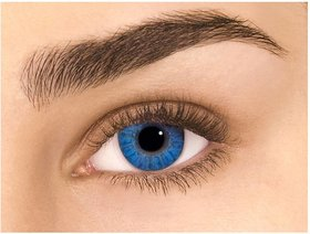 Imax Unisex Blue Monthly Disposable Contact Lens Without Power