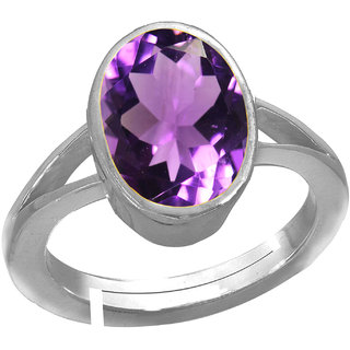 Riddhi Enterprises 10.50 ratti original jamunia amethyst silver adjustable ring