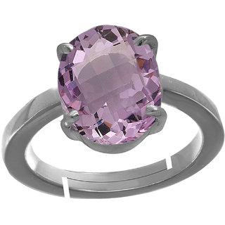 Riddhi Enterprises 3 ratti Certified by GLI Astrology paradise amethyst jamunia  katela silver adjustable ring for unisex