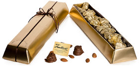 500GM RICH CREAMY ASSORTED CHOCOLATE PACKED IN GOLD BAR BOX
