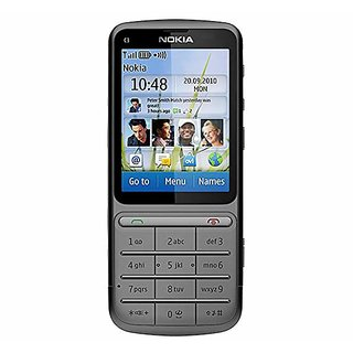 cheaper 078f5 1a774 Nokia C3-01 Grey Mobile with Battery,Charger.
