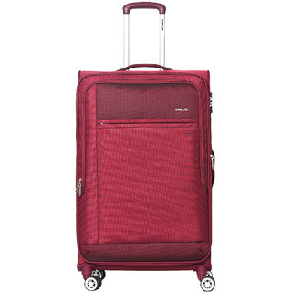 Timus Estonia 8 Wheel Strolley Spinner Expandable Check-in Luggage - 30 inch (Red)