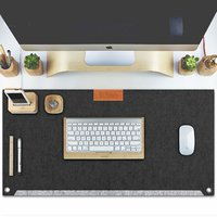 Tizum Z57 Large Felt Desk Mat Mouse Pad for Office  Gaming with 2 Pockets  635  330 mm (Grey)