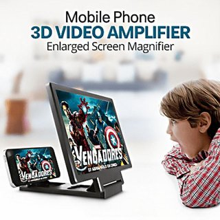 Universal 3D F1 Mobile Phone Screen Magnifier Enlarger Video Screen Amplifier Eyes Protection Assorted color