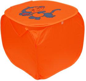 Winner Full Size Orange Color Foldable Laundry Basket - Laundry Bag for Organizing Cloths Pack of 1 (45X45) -40001061-01