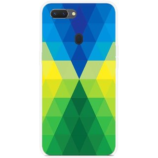SmartNxt Designer Printed Case for Oppo Realme 2 Pro | Yellow | Patterns & Ethnic | Blue rectangles