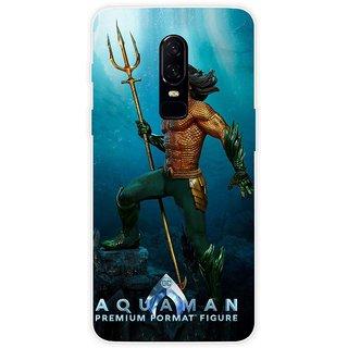 SmartNxt Designer Printed Case for OnePlus 6 | Blue | Movies & TV Series | Aquaman