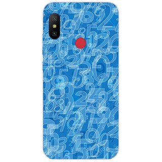 SmartNxt Designer Printed Case for Redmi Y2   Blue   Patterns & Ethnic   Overlapping Numbers