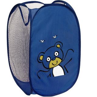 Winner Full Size Rectangular Blue Foldable Laundry Basket - Laundry Bag for Organizing Cloths Pack of 1