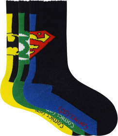 Justice League Kids Crew Socks - Superman, Batman, Green Lantern - Pack of 3