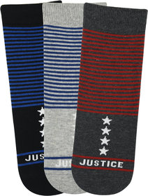 Justice League Kids Crew Socks- Black, L.Grey, D.Grey - Pack of 3 ( 5-8 Years)