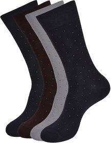 Balenzia Men's All Over Dots Socks- Pack of 4( Multicoloured)