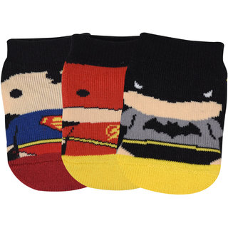 Justice League's Chibi By Balenzia Low Cut Socks for Kids- Pack of 3