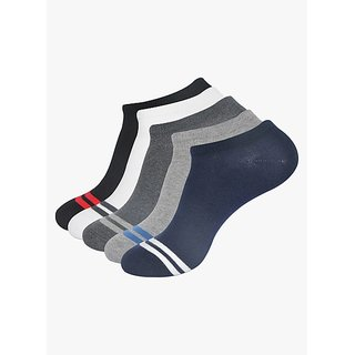 Balenzia Mens Pack of 5 Multicoloured Low Cut Socks