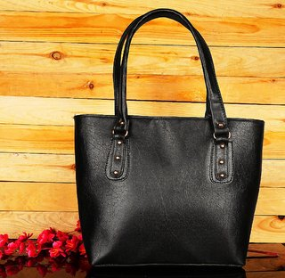 ELEGAANTE Classic Handbag for Women Faux Leather (Casual/Formal)(Black)