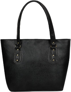 63dcb42906559f ELEGAANTE Classic Handbag for Women Faux Leather (Casual/Formal)(Black)