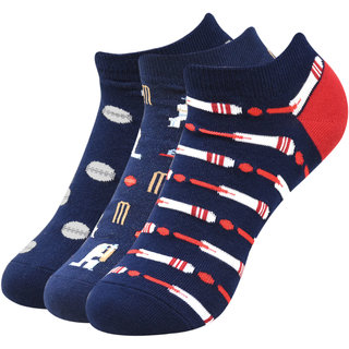 Balenzia Cricket Collection Unisex Lowcut Socks- Pack of 3