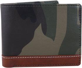 Moody Max- Men's Bi-Fold Pu Leather Wallet (Brown Strip)