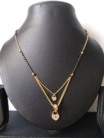 DiMiKi Latest Design Double Layer Alloy Mangalsutra For Women