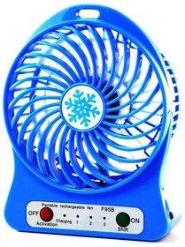 3 Speeds Electric Portable Mini Fan Rechargeable Small Powerful Li-ion Battery Fan Mini USB Fan mix color