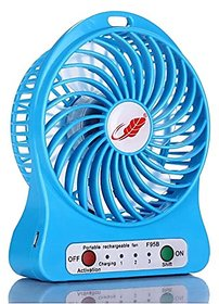 4-inch  3 Speeds Electric Portable Mini Fan Rechargeable Small but Powerful Li-ion Battery Fan Quiet Mini USB Fan