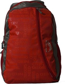 Trekkers Need Backpack branding High Fashion RED