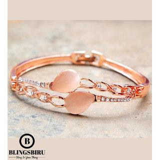 Blings Biru Good Looking Bracelet with Rose Gold Plating