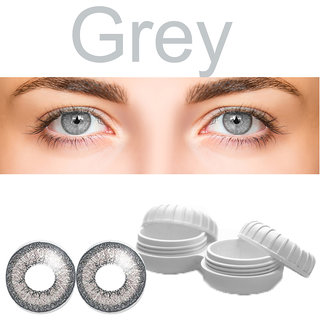TruOm Gray Colour Monthly(Zero Power) Contact Lens Pair