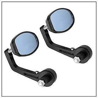 Capeshoppers Bike Handle Bar End Rotatable Rear View Mirror (UNIVERSAL)