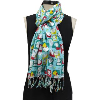 Monika Collection Wmen's Soft  Fun Scarves And Stoles (Size 70 x 180 cm)